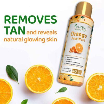 Orange facewash for tan remover